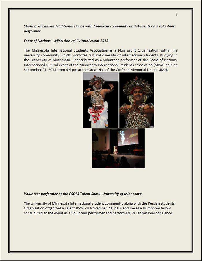 HUBERT H  HUMPHREY FELLOWSHIP PROGRAMME: PARTICIPANTS REPORT