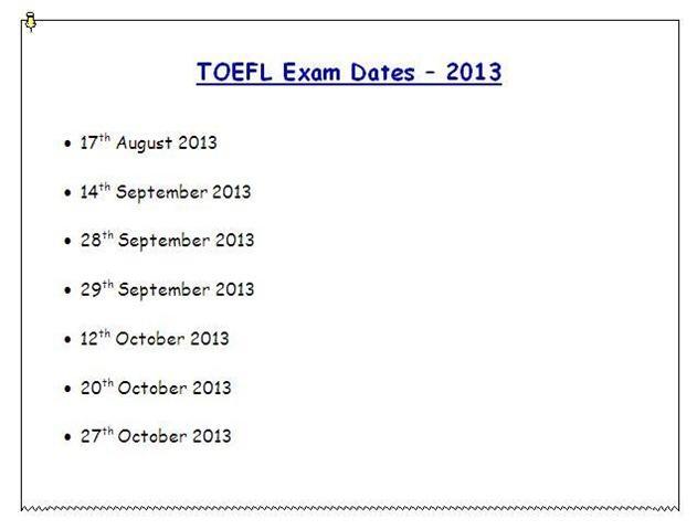 Gre exam dates in Perth