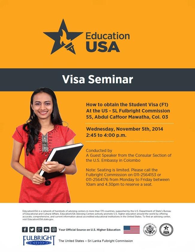 Visa Session Flyer - November 2014