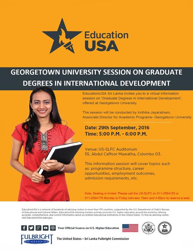 Georgetown University Webinar
