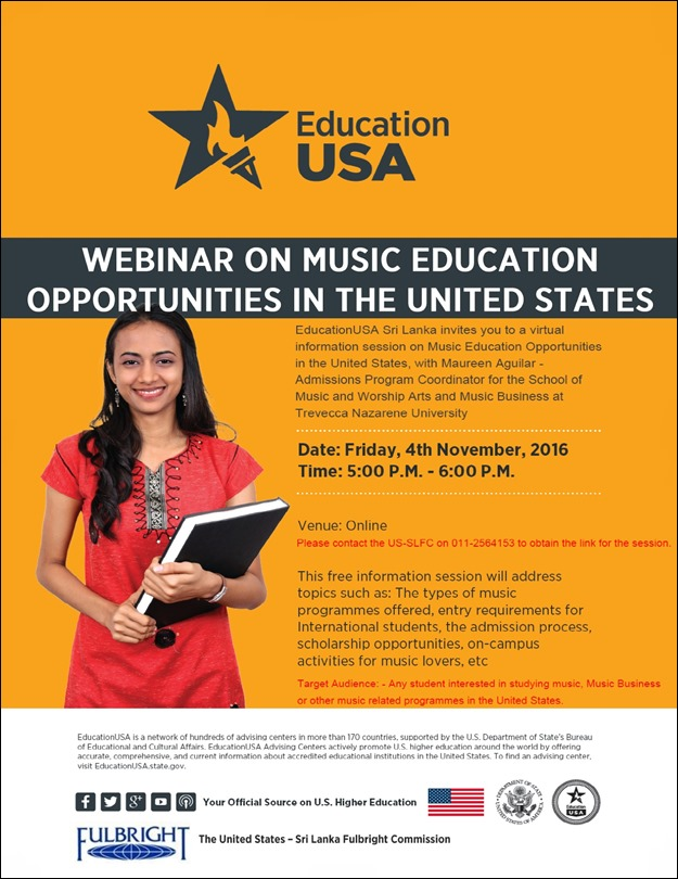 musical education opportunities in america While anyone can play or enjoy music, many jobs in this field – including   accreditation from agencies recognized by the us department of education the .