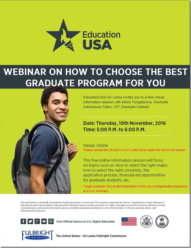Webinar on how to choose the best graduate program for you