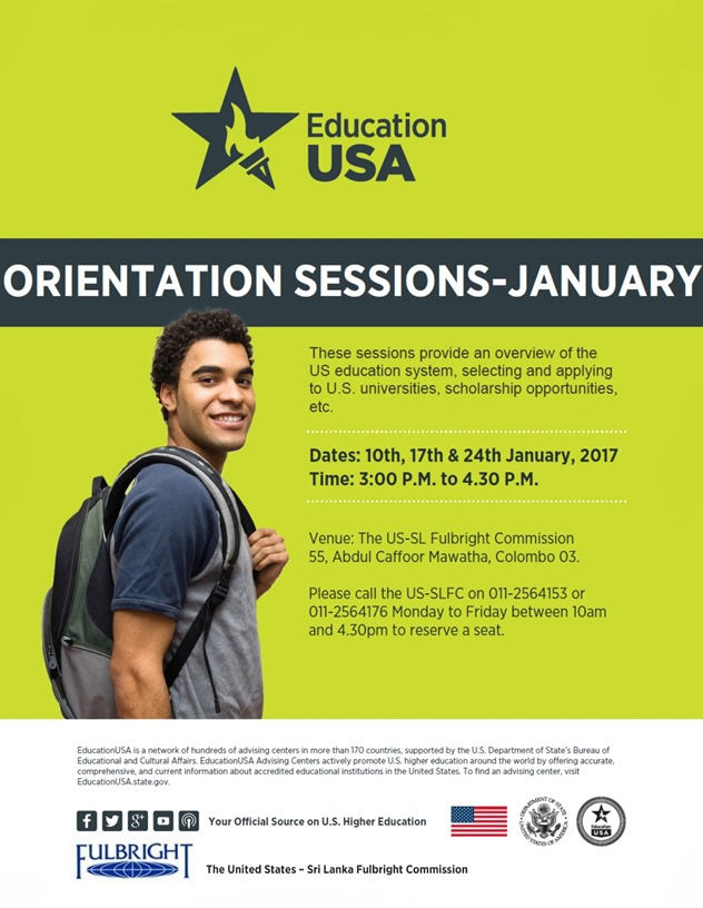 Orientation Sessions - January 2017