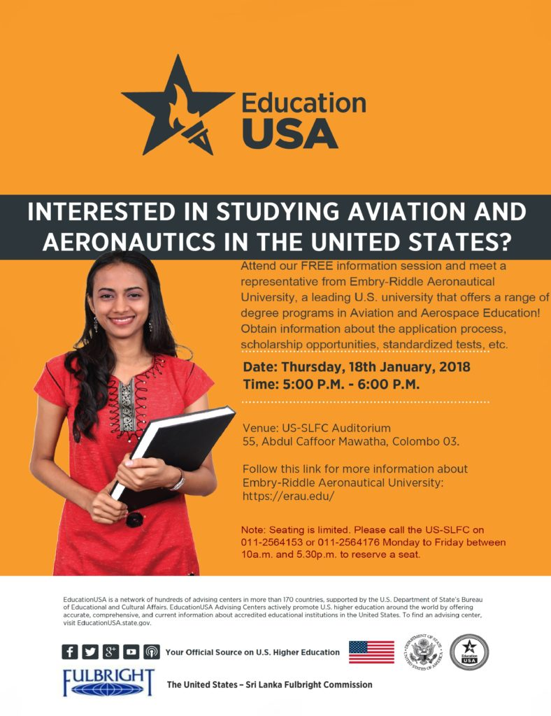 Embry-Riddle University Session Flyer - January 2018