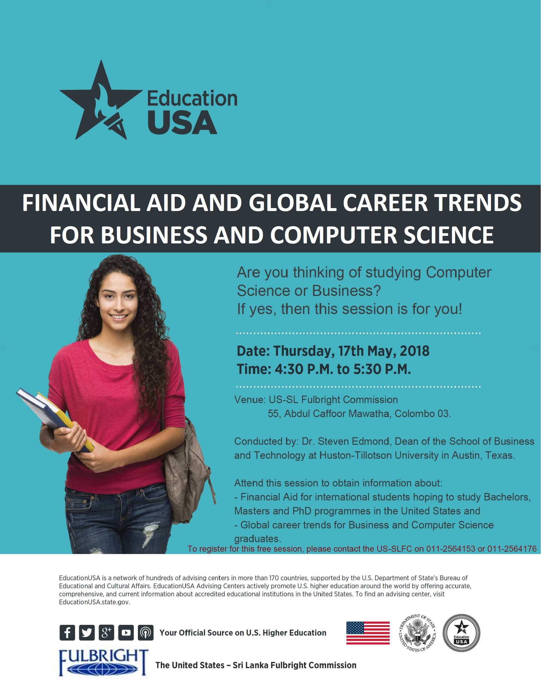 Free Session on 'Financial Aid and Global Career Trends for
